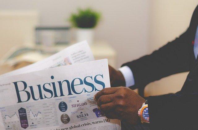 Business Business Man Newspaper Man